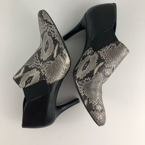 Cole Haan Maxfield Natural Snake Print Bootie
